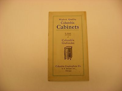 Original Phonograph Record Cabinet Catalog - Columbia Graphophone Co. Cabinets