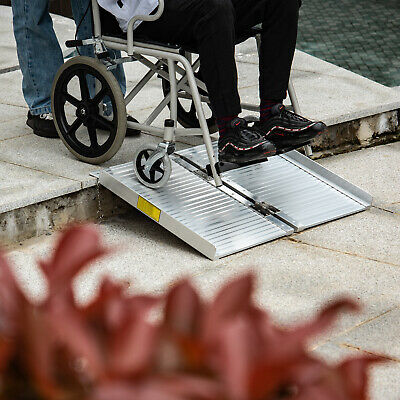 2 FT Portable Aluminum Wheelchair Loading Ramp Scooter Mobility Handicap Ramp