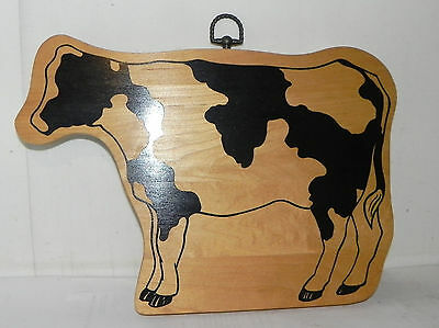 """Easte: Wood Cow Decor, Wall Decor or could be Kitchen Cutting Board l2"""" Wide"""