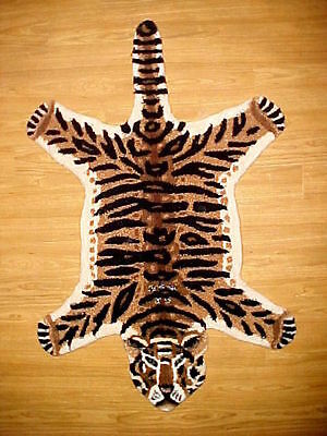 2ft X 3ft TIGER AREA RUG Safari African Wildlife Exotic Throw RUGS