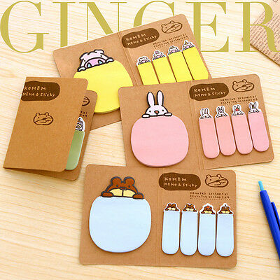 Cute Funny Animal Sticker Post It Bookmark Point Marker Memo Flag Sticky Notes