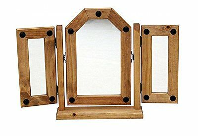 Corona Triple Dressing Table Mirror Mexican Solid Pine by Mercers Furniture®