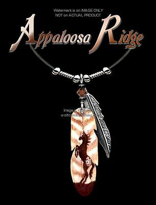"Appaloosa Ridge Horse Necklace 24"" Wild Horses Western Art Jewelry Free Ship  L*"
