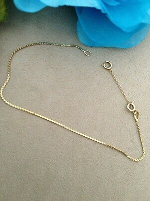 14kt gold bracelet Safety Chain Real Gold Seven Inch Long High Quality