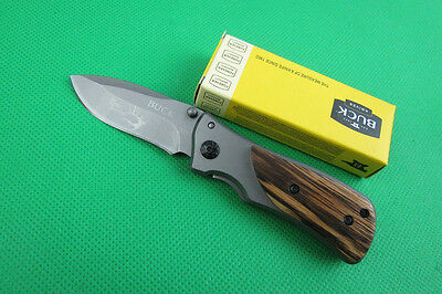 Buck Knife Xmas Gift Saber Camping Hunting Pocket Folding Portable Sports k52d