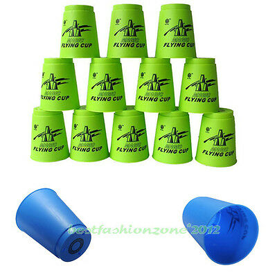 Lot 12pcs Speed Stacks Sport Flying Stacking Rapid Luminous Cups Christmas Gift