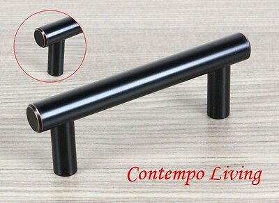 """4"""" Solid Kitchen Cabinet Bar Pull Handle With Oil Rubbed Bronze Finish ORB"""