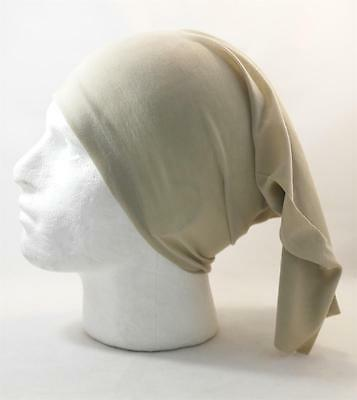 Multifunction head wrap neck tube scarf mask hat BIEGE cycling hiking hair