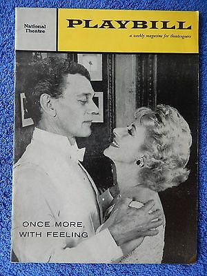 Once More With Feeling - National Theatre Playbill - 1959 - Joseph Cotton