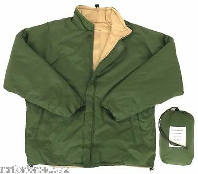 NEW Army Military Issue Thermal Reversible Green / Sand Bivi Jacket - Size LARGE