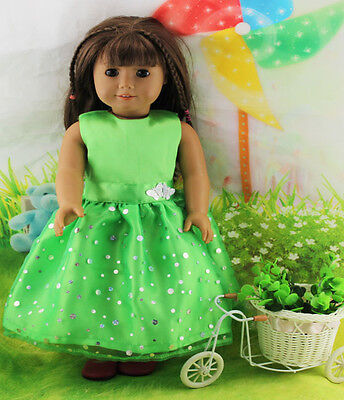 !Hotsell Handmade lovely dress clothes for 18 inch American Girl Doll b78