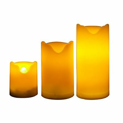 Candle Choice Set of 3 Indoor and Outdoor Flameless Candles Dual Timer 300 Hours