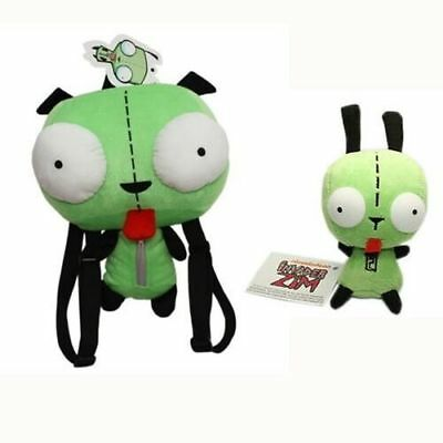 2x ALIEN INVADER ZIM DOG SUIT GIR ROBOT Backpack & Toy Plush Soft Doll Cute