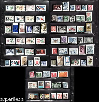 Canada MNH postage stamp lot • Collection of 76 from 1940's to 1970 F/VF **