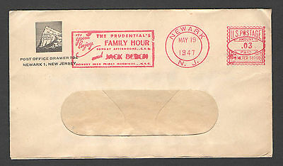 USA Old (1947) cover VF meter cancel + advertising slogan