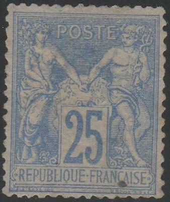 "FRANCE STAMP TIMBRE N° 68 "" SAGE 25c OUTREMER TYPE I 1876"" NEUF x TB RARE A VOIR"