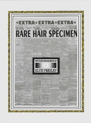 ELVIS PRESLEY worn owned personal HAIR STRAND tiny speck of his hair