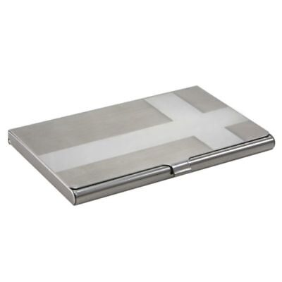 Silver Metal Business Name ID Credit Card Pocket Holder Wallet Case New