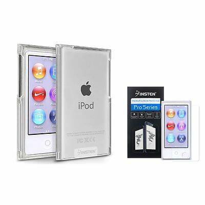 Clear Slim Case Cover+2x Diamond LCD Protector For iPod Nano 7 7th 7G Generation