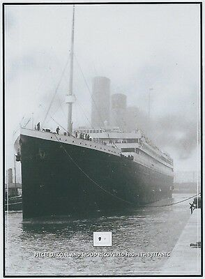 COAL and WOOD pieces removed from THE TITANIC, 1912 wreckage, RMS White Star
