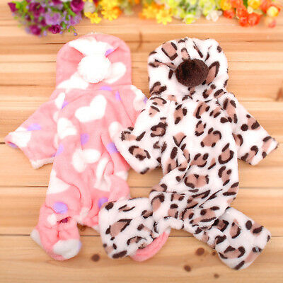 Adorable Pink Sweetie Dog Coat for Dog Hoodie Jumpsuit Soft Cozy Pet Clothes M