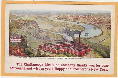 Advertising Postcard Wine of Cardui for Women Menstrual Relief Chattanooga Medic