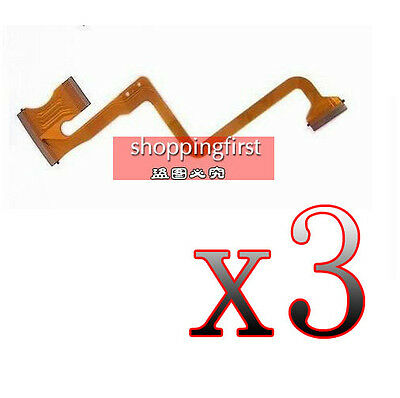 OP2 3Pcs LCD Flex Cable Replacement For JVC GZ-MS120 AC MS123 MS130 HM200 Repair