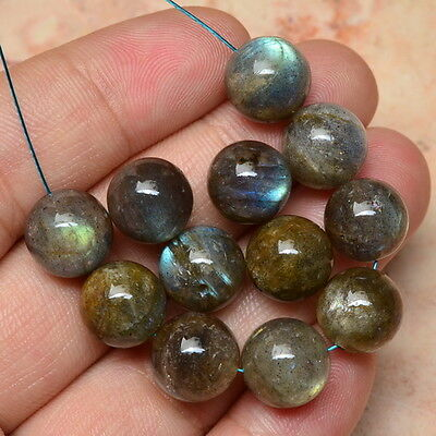 10MM NATURAL LABRADORITE GEMSTONE ROUND BEADS