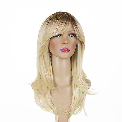 Charlotte | Layered Wig Side Fringe | Rooted & Natural Shades