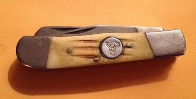"""One Day Auction Whitetail Cutlery Double Blade Pocket Knife 3 1/8"""""""