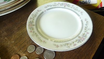 Society Fine China Japan SHELLY Bread Butter salad dessert PinkBlue Floral plate