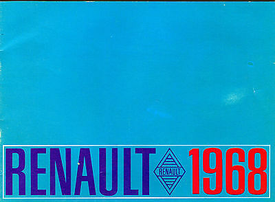 1968 Renault Full-line Sales Catalog