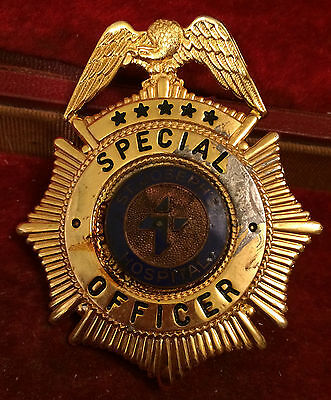 Old Saint St. Joseph's Hospital Special Officer Badge Lo Minimum No reserve