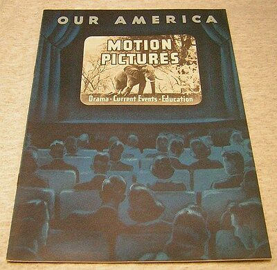 """VINTAGE COCA COLA """"Our America Motion Pictures"""" with picture stamps"""
