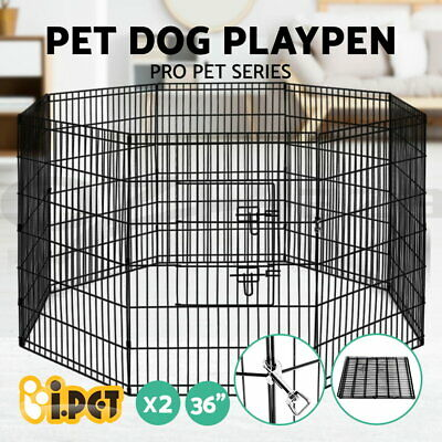 "2X i.Pet 36"" 8 Panel Pet Dog Playpen Puppy Exercise Cage Fence Play Pen"