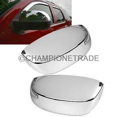 Chrome Half RearView Mirror Cover Trims fit 07-13 GMC Sierra/Chevy Silverado CT