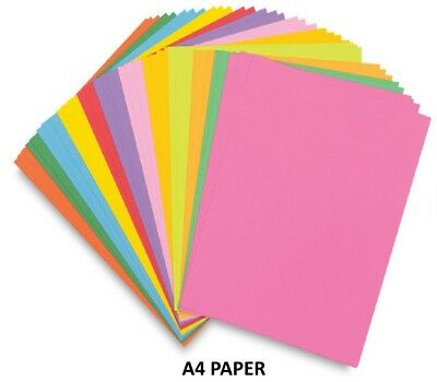 5 A4 Paper Sheets - 80Gsm Coloured Printer Copier Craft Paper - Select A Colour