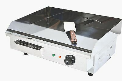 ACE Pro Chrome 55cm Wide Stainless Steel Electric Griddle Hotplate UK 13amp plug