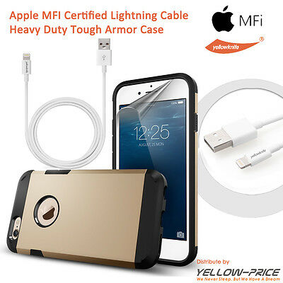 Apple iPhone 6 4.7 Accessory Bundles: MFI Lightning to USB Cable+Armor Case Film