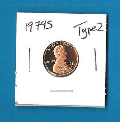 1979 S Type 2 Proof Lincoln Cent -  Type 2 - Clear S