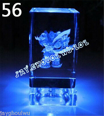 Free Lettering New LOL League of Legends Sion 3D Crystal Figure Lights