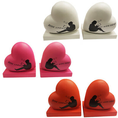 Heart to Heart Home Decoration Bookends Boys Girls Nursery Book Ends Gift Office