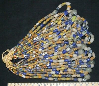 Bundle of (25) Fine Strands of Sandcast Trade Beads.. NEW LOWER PRICE !!