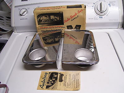 50s nos Chrome Vintage Drive in AUTO TRAY window old auto rat rod car accessory