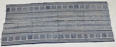 Tribal exotic chinese minority people's old  local cloth hand batik  53cmx125cm