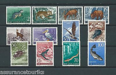 YUGOSLAVIA ANIMAUX - 1954 MI-NR 738 à 749 - TIMBRES NEUFS** MNH LUXE