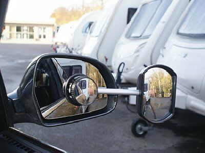 Deluxe Suck It And See Flat Lens Extension Mirror Towing Caravan Free Pouch