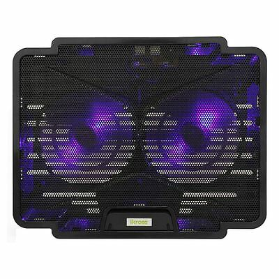 """iKross Slim Cooling Pad Chill Mat w/ Dual 140mm LED Fans For Laptop Up to 15.6"""""""