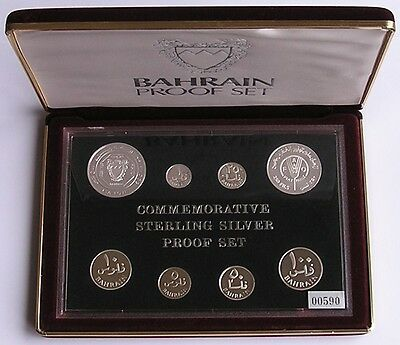 """BAHRAIN 1983 SILVER  PROOF  SET , LIMITED EDITION  """"LOW PRICE & FREE SHIPPING"""""""