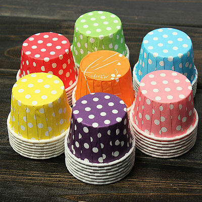 100X Paper Cupcake Liner Muffin Candy Nut Snack Greaseproof Dessert Baking Cups